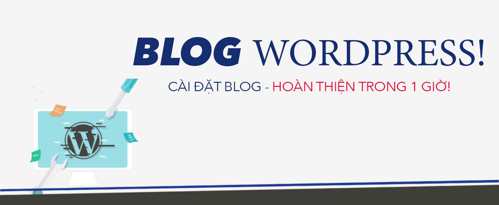 khoá học càu đặt blog wordpress